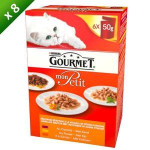 GOURMET Petit Repas ? la volaille - Pour chat adulte - 6x50 g (x8)