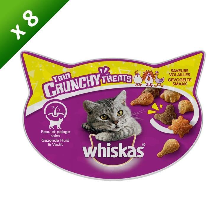 WHISKAS Trio crunchy friandises - Saveurs volailles - Pour chat - 55 g (x8)