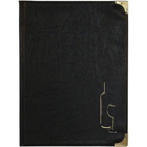 Prot?ge menu Bordeaux Basique, A4, 10 pages