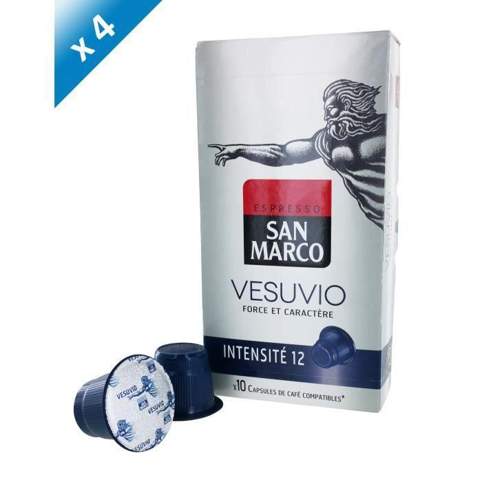 40 capsules SAN MARCO Capsules Vesuvio Compatible Nespresso