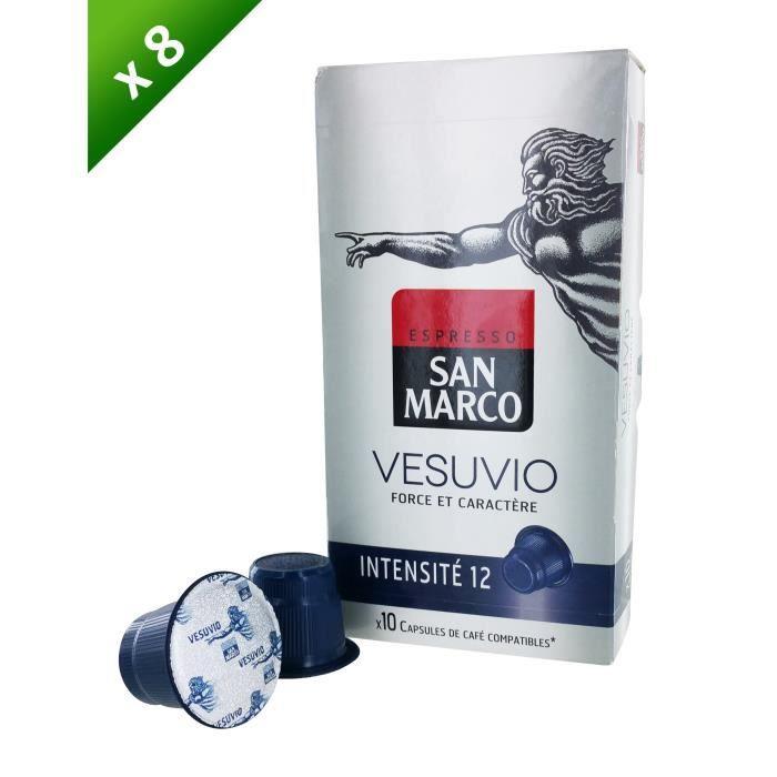 80 capsules SAN MARCO Capsules Vesuvio Compatible Nespresso