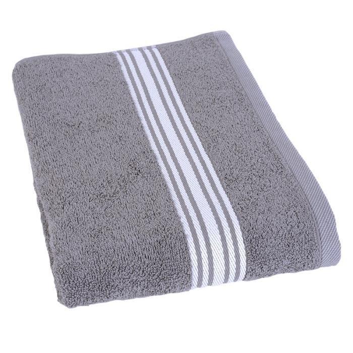 JULES CLARYSSE Drap de bain Pure 70x140 cm gris