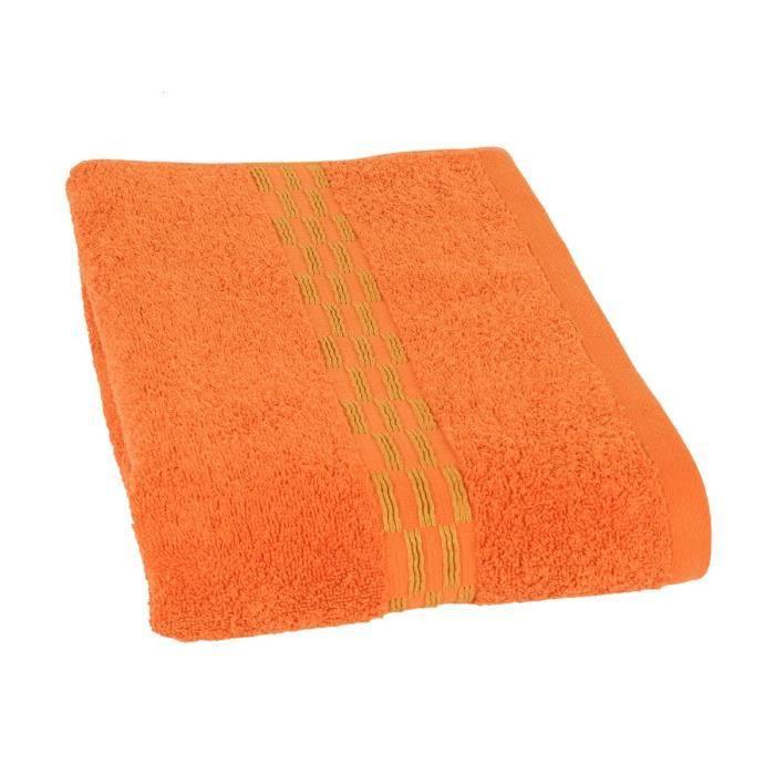 JULES CLARYSSE Drap de bain Yeni 70x140 cm orange