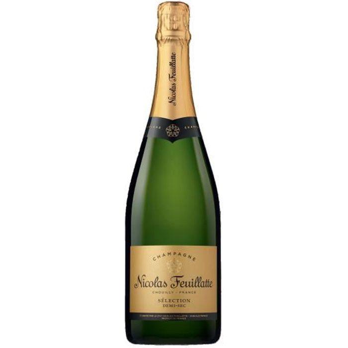 Champagne demi sec 75 cl nicolas feuillatte