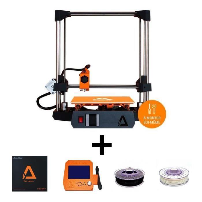 Pack DAGOMA Imprimante 3D DISCŒASY 200 en Kit + BUILDTAK Support pour impression 3D + DAGOMA Ecran p