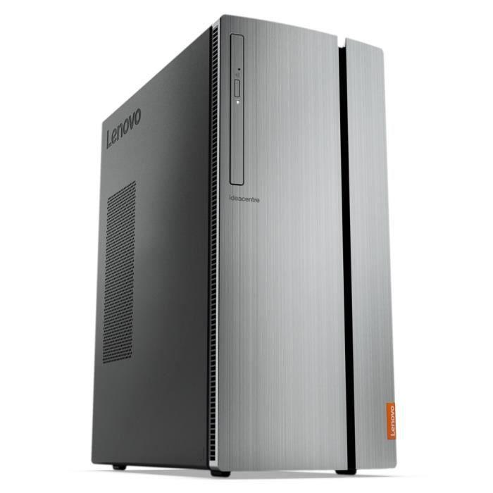 Ordinateur de Bureau - LENOVO Ideacentre 720-18APR - AMD Ryzen 5 - RAM 8Go - Stockage 1To - GTX 1050 Ti 4Go - Windows 10
