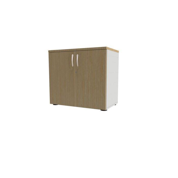 Armoire basse 2 portes chêne clair - L80xH72xP47cm, 1 tablette/2niveauxARMOIRE DE BUREAU