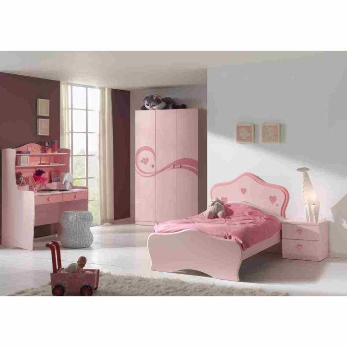 LIZZY Chambre complète enfant 4 Pièces - Rose