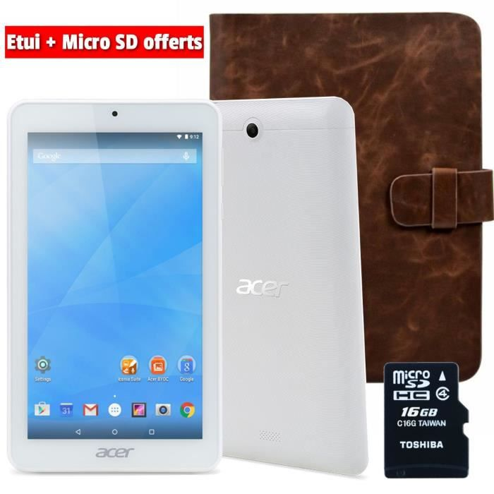 Acer Tablette Tactile Iconia One 7 B1-770 + Etui Manille + MicroSD 16Go - 7\