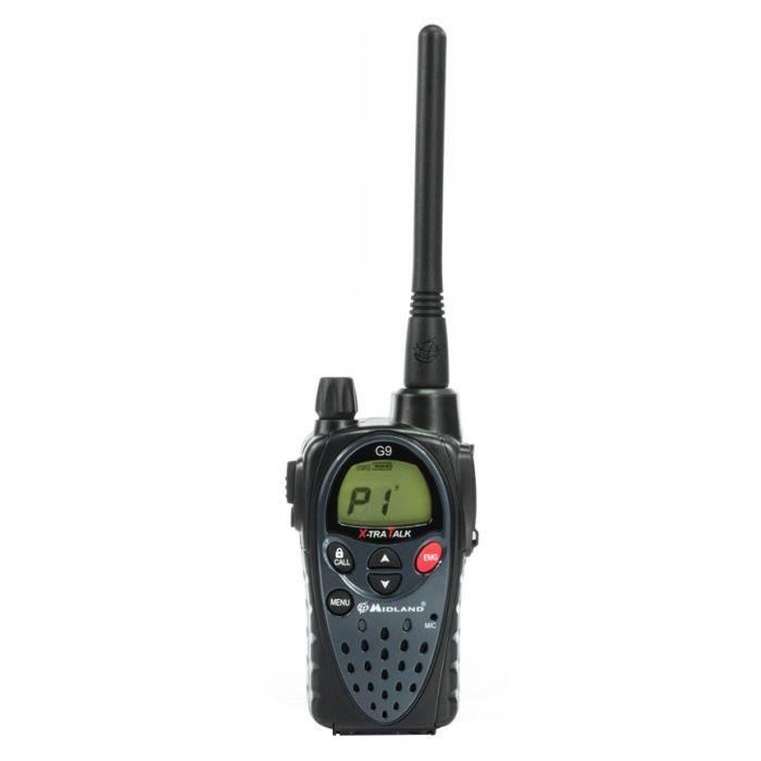 MIDLAND Pack talkie-walkie G9 Plus - Noir
