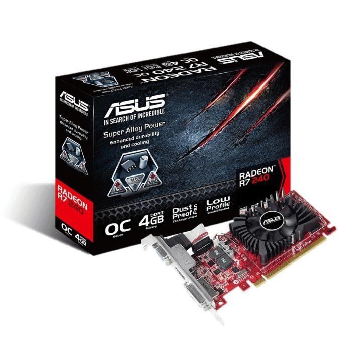 Asus AMD Radeon R7 240 4Go DDR3 OC LP