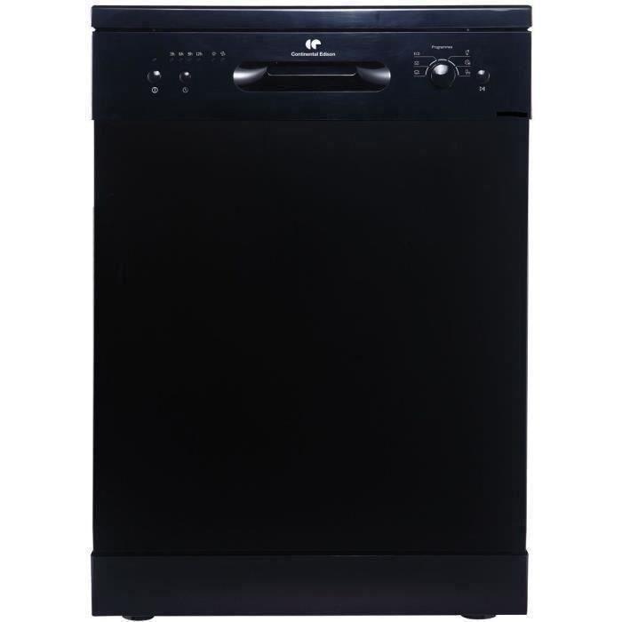 CONTINENTAL EDISON - Lave-vaisselle - Noir - 12 couverts - 6 prog. - A++AA - 47dB