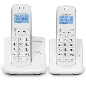 Thomson Jaspe Duo Téléphone Sans Fil Sans Répondeur Blanc