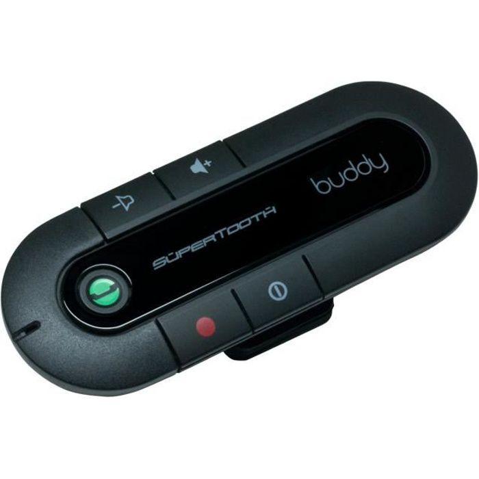 Supertooth Buddy Kit Mains Libres Voiture Bluetooth Noir