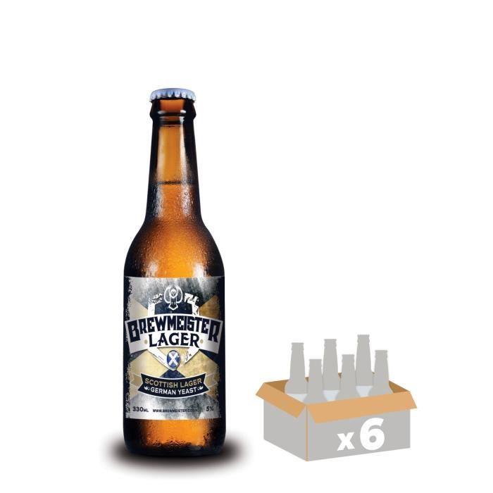 BREWMEISTER LAGER - Lot de 6 Bières Blonde - 0,33 L - 4,5°BIERE