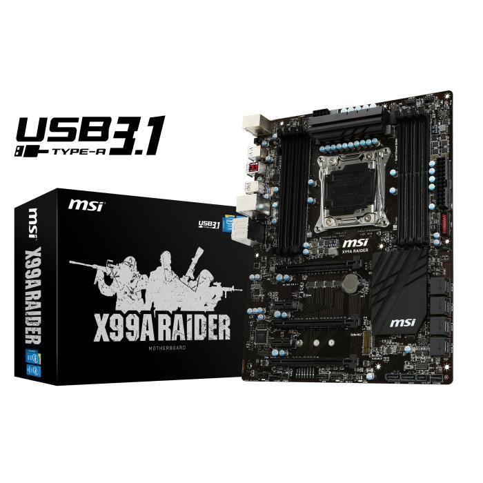 MSI carte mère X99A RAIDER USB3.1