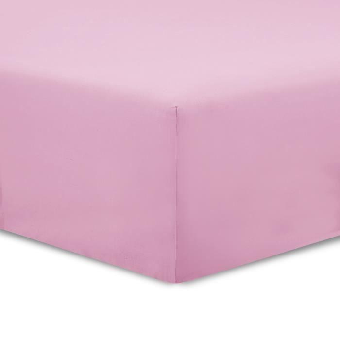 VISION drap housse 160x200cm ROSE