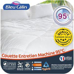 BLEU CALIN Couette chaude Entretien Machine 95°C 200x200 cm blanc