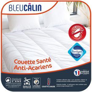 BLEU CALIN Couette chaude Santé Anti-acariens 220x240 cm blanc