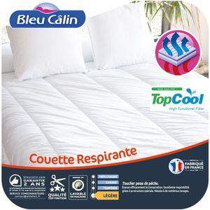 BLEU CALIN Couette respirante TOPCOOL 200x200 cm blanc