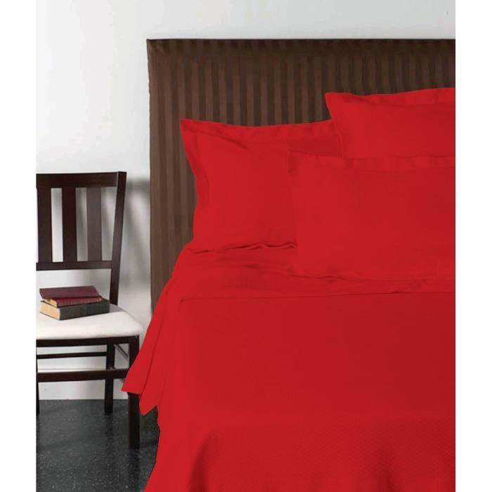 VISION Drap plat 180x290 cm rouge