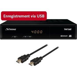 STRONG SRT 7404 Récepteur satellite - Haute définition - Noir + Câble HDMI 1,2m OFFERT