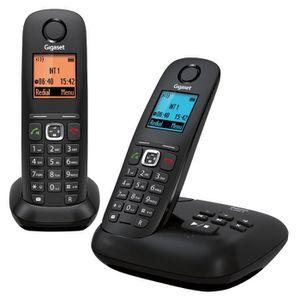 Gigaset A540A Duo Téléphone Sans Fil Répondeur Noir