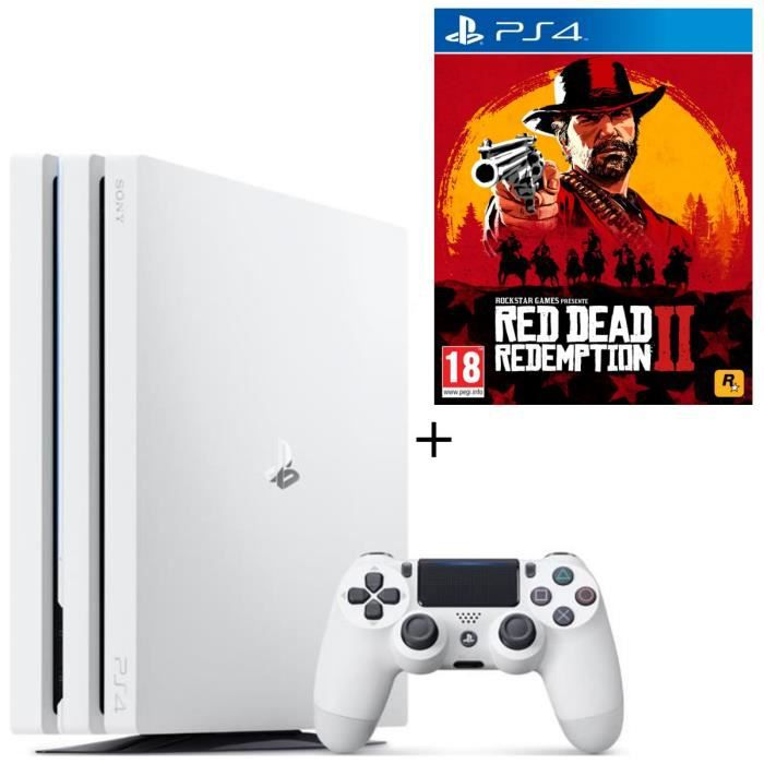 Pack PS4 Pro 1 To Blanche + Red Dead Redemption 2