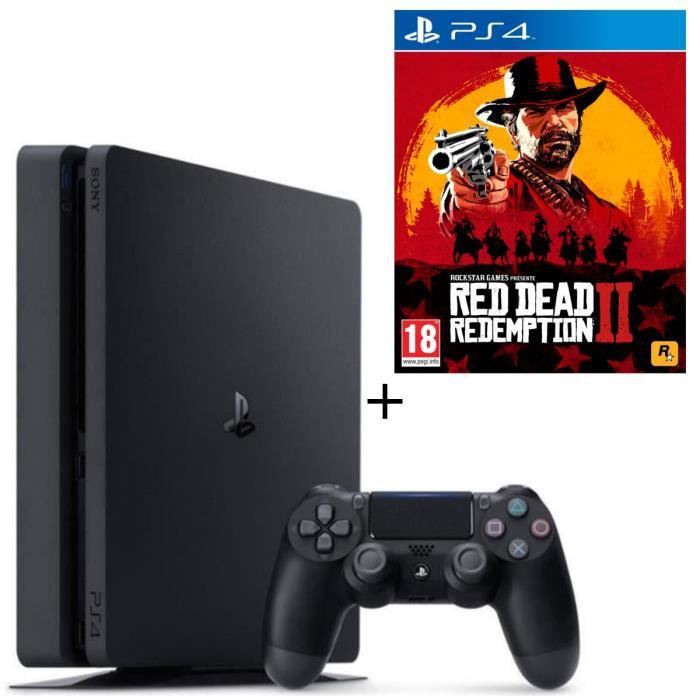 Pack PS4 500 Go Noire + Red Dead Redemption 2