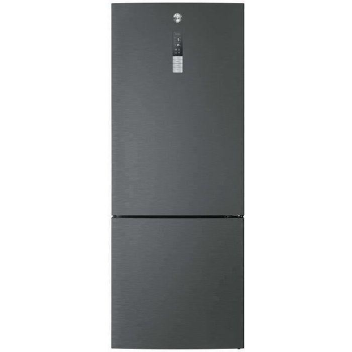 HOOVER H-FRIDGE 500 MAXI HMNV7184DXT - Réfrigérateur congélateur bas WIFI - 432L (324+108) - A++ - 7