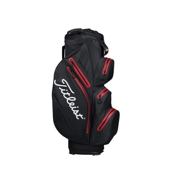 TITLEIST Sac de Golf StaDry Cart - Noir et Rouge