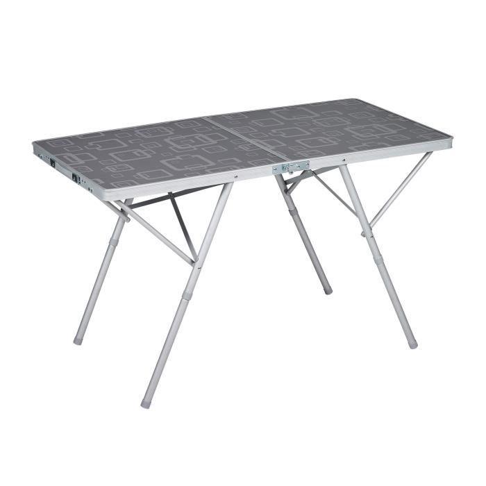TRIGANO Table valise Premium - Gris