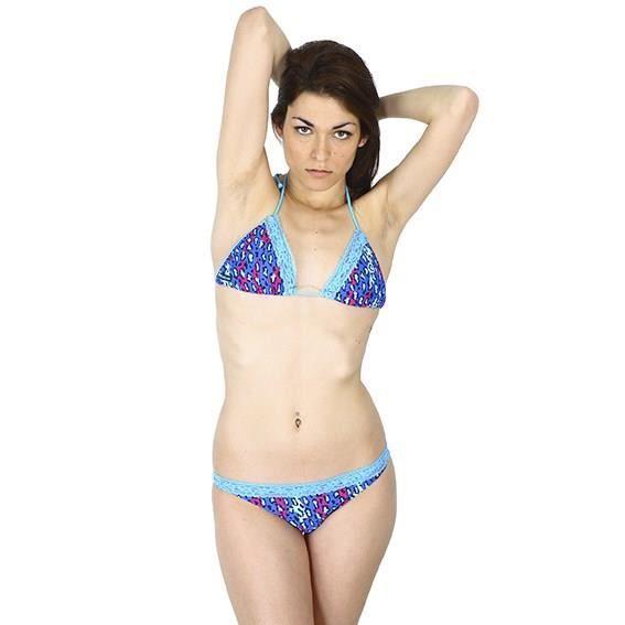 FREEGUN Maillot de bain Fauve - Femme - Bleu