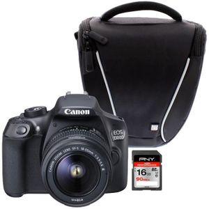 Pack Reflex : Reflex Canon EOS 1300D + Sacoche + Carte SD 16GO