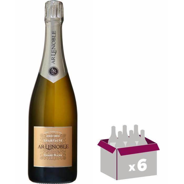 Champagne a.r. lenoble riche demi sec