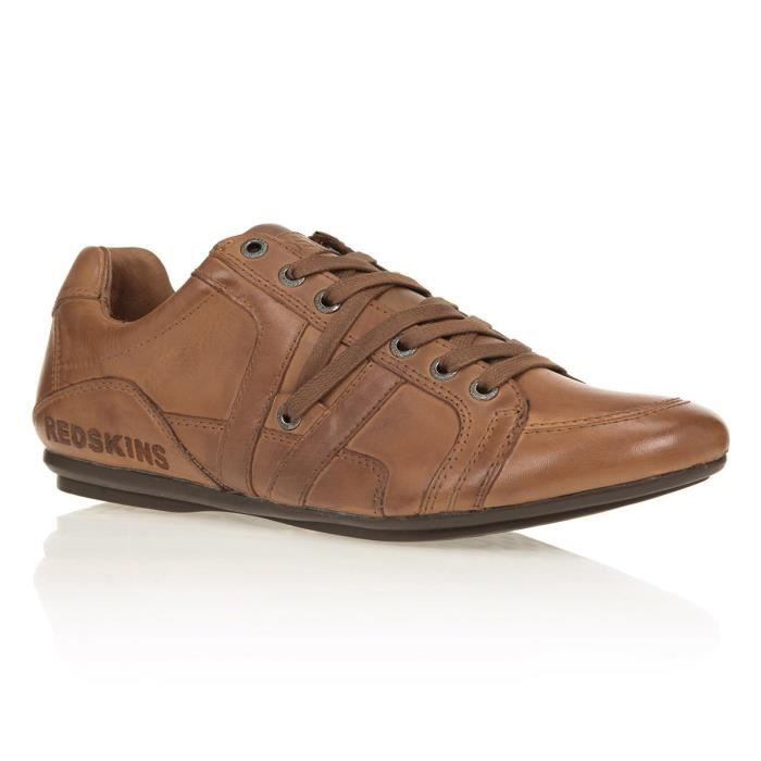 REDSKINS Baskets Arene Chaussures Homme Cognac