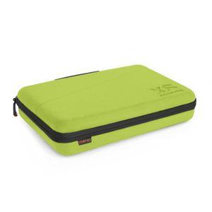 XSories - CAPXULE LARGE - Housse de rangement caméra GoPro et accessoires, mousse découpée, filet de rangement, poignée, Vert citron