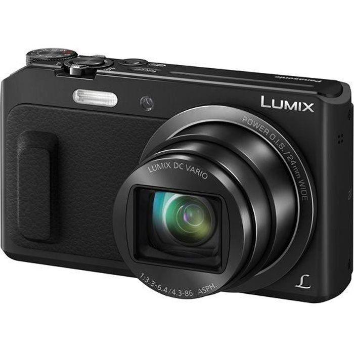 PANASONIC LUMIX TZ57 Noir - MOS 16 Mégapixels Appareil photo numérique Compact