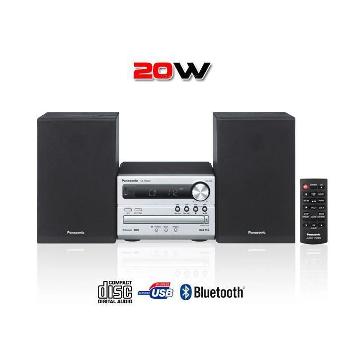 Micro-chaîne Bluetooth - Puissance totale 20W RMS - Système d'amplification entièrement numérique - Bluetooth Re-master - Port USB - Lecteur CD et Radio FM...CHAINE HI-FI