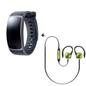 Samsung Bracelet Gear fit 2 Noir small + Ecouteurs Level Active Jaune