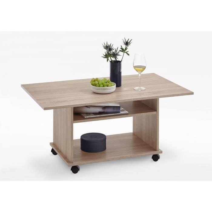 Table basse AZUR - Contemporain - Décor chêne - L 100 x l 60 cm