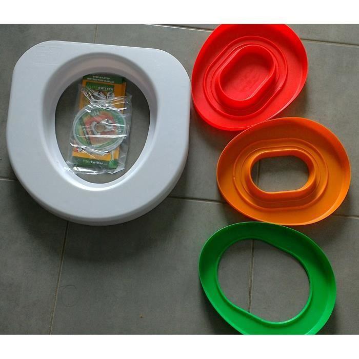 LITTER KWITTER Kit d'apprentissage à l'utilisation des toilettes de la maison - Pour chat