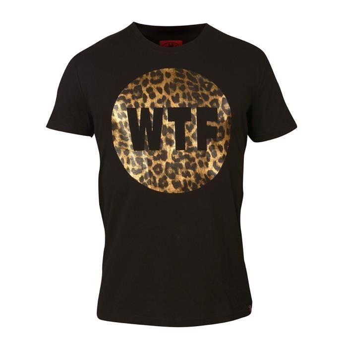 WTF T-shirt Homme Leo - Noir