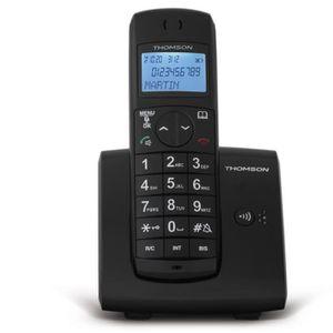 Thomson Jaspe Solo Téléphone Sans Fil Sans Répondeur Noir