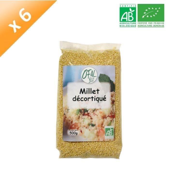 OFAL BIO Millet décortiqué - 6x 500 g