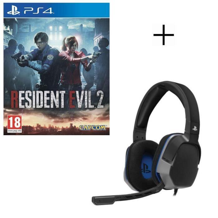 Resident Evil 2 Jeu PS4 + Casque Afterglow Level 3
