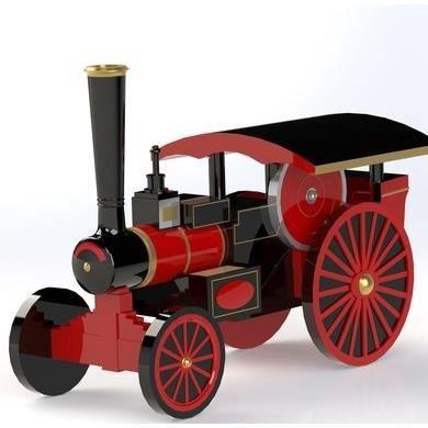 Miniature Tracteur à vapeur rétro personnalisée