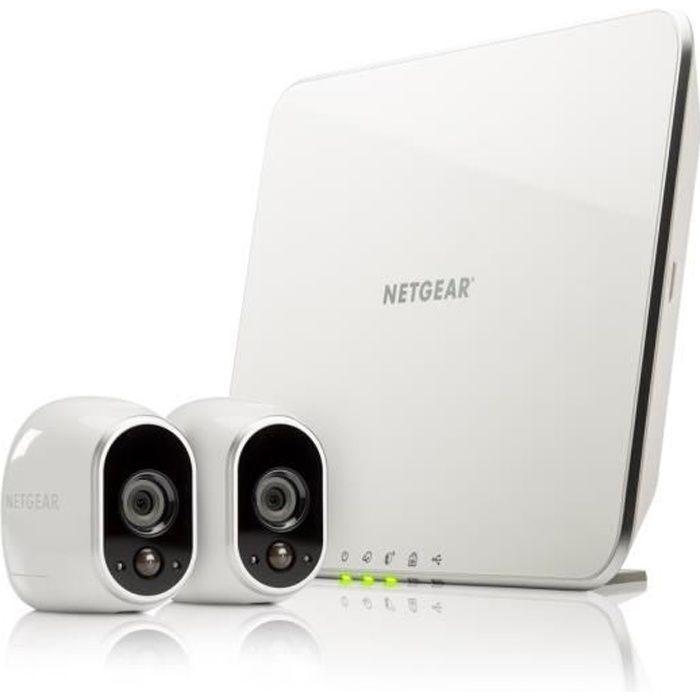 Arlo - Système de sécurité sans fils à vision nocturne - 2caméras HD intérieur/extérieur + station d'accueil intelligente (VMS3130)