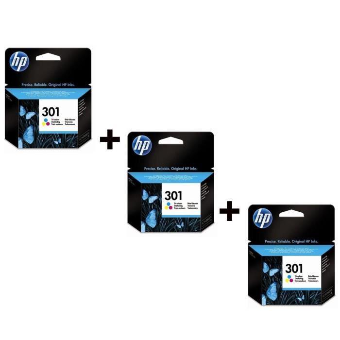 HP 301 Cartouche d'encre Couleurs x3