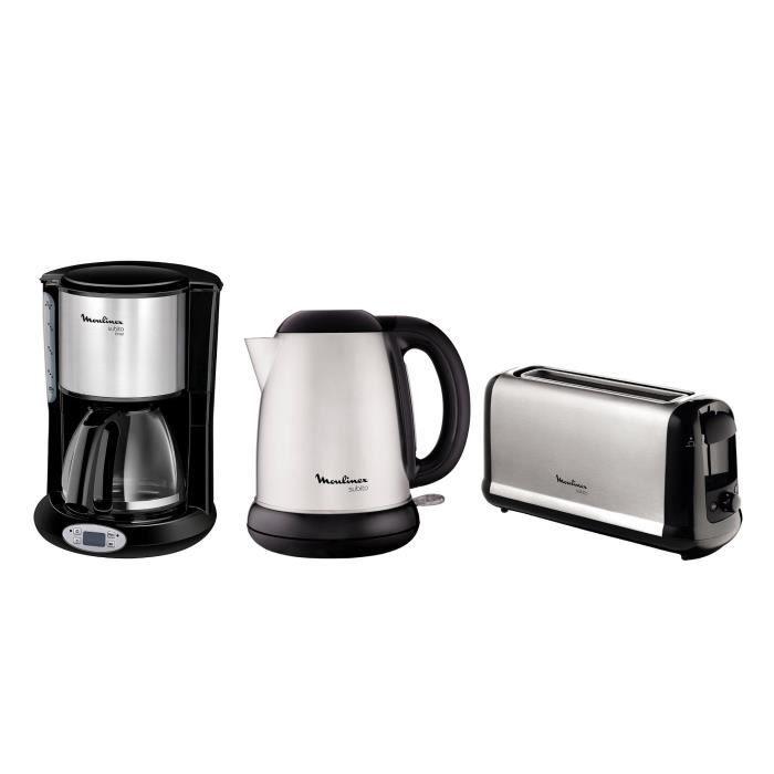 Pack MOULINEX Subito : Bouilloire électrique BY540D10 + Cafetière filtre...